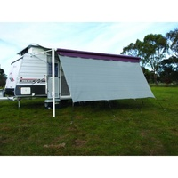 Camec Privacy Screen 4.3 x 1.8m With Ropes And Pegs - suits a 15' awning