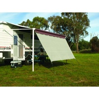 Camec Privacy Screen 4.6 x 1.8m With Ropes And Pegs - suits a 16' awning